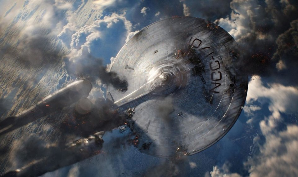 "The Enterprise takes a beating in the sequel ""Star Trek Into Darkness."" Paramount Pictures photo <strong></strong>"
