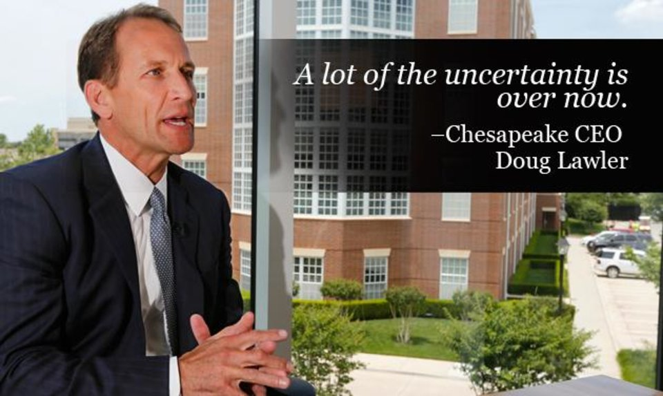 Photo - Chesapeake Energy Corp. CEO Doug Lawler is seen during an interview with The Oklahoman in this June 2013 photo by Steve Gooch