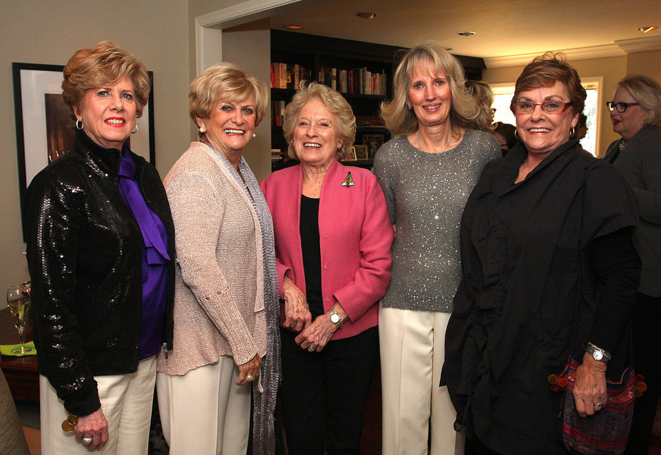 Susan Weaver, Donna Nigh, Melba Rhinehart, Anne Gray, Pat Edwards. PHOTO BY DAVID FAYTINGER, FOR THE OKLAHOMAN