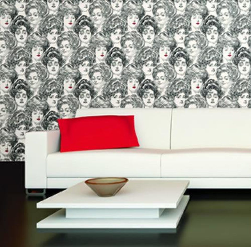 Pucker Up Butter Cup wallpaper by York Wallcoverings, sold at Ketch Design Centre. Photo provided. <strong></strong>