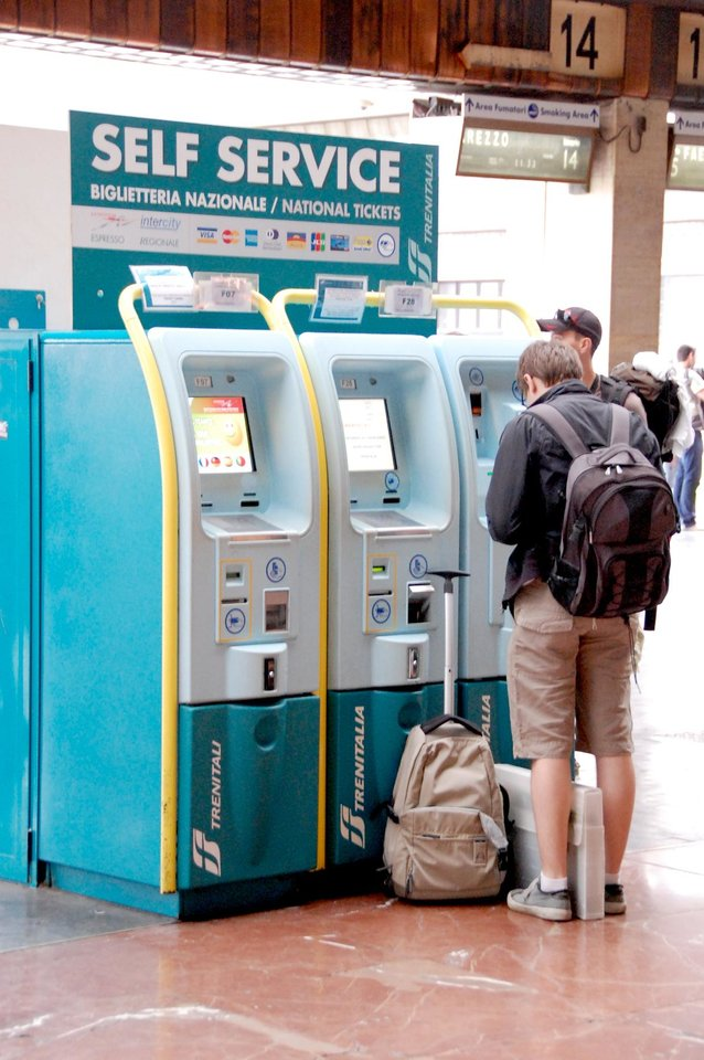 Photo - Automated ticket machines can save travelers from having to stand in a long line to buy tickets. (Photo by Cameron Hewitt)