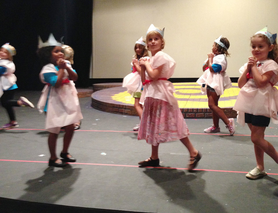Photo - Dance 1 students during a recent summer camp session at Oklahoma Children's Theatre perform their routine at Oklahoma City University' Burg Theater on July 19PHOTO PROVIDED.
