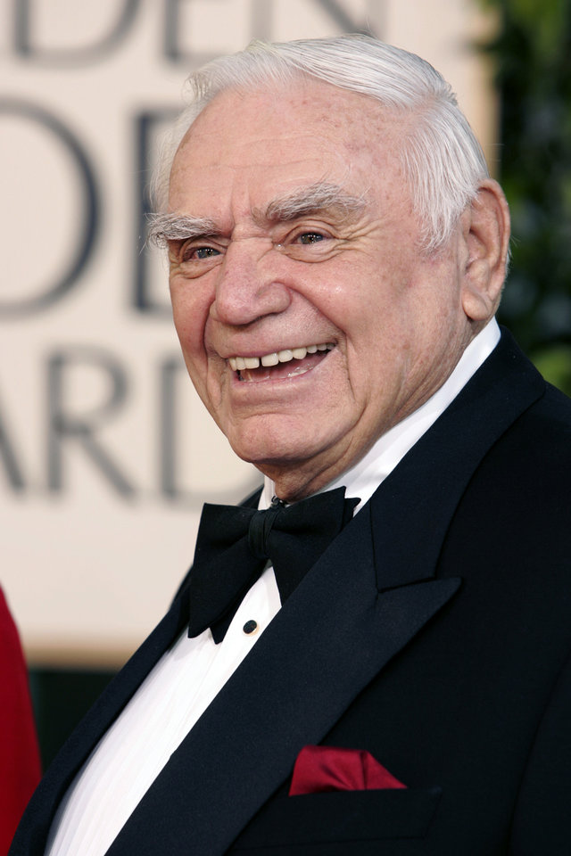 Photo -   FILE - In this Jan. 16, 2005, file photo, actor Ernest Borgnine arrives for the 62nd Annual Golden Globe Awards, in Beverly Hills, Calif. A spokesman said Sunday, July 8, 2012, that Borgnine has died at the age of 95. (AP Photo/Mark J. Terrill, File)
