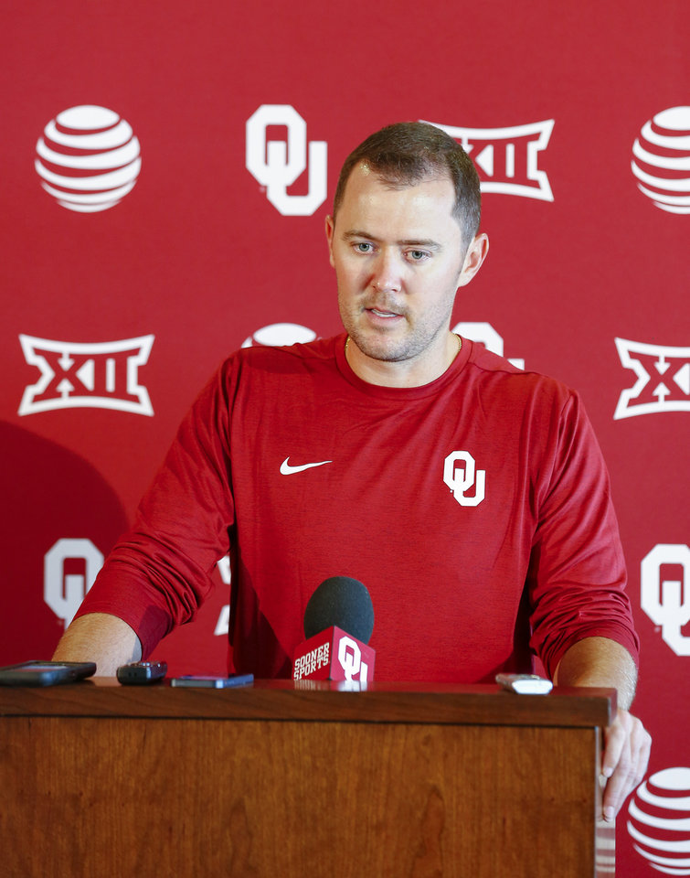 Photo - Oklahoma offensive coordinator Lincoln Riley. (Photo by Alonzo J. Adams for The Oklahoman)