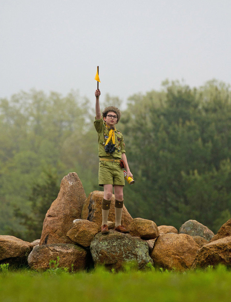 Jared Gilman is shown in a scene from �Moonrise Kingdom.� Focus Features Photo