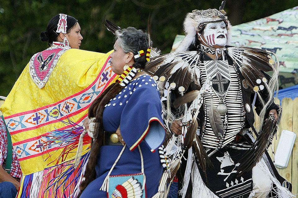 Photo - American Indian dancing exhibitions are among the free attractions offered at Centennial Frontier Experience at the Oklahoma State Fai. The Oklahoman archives
