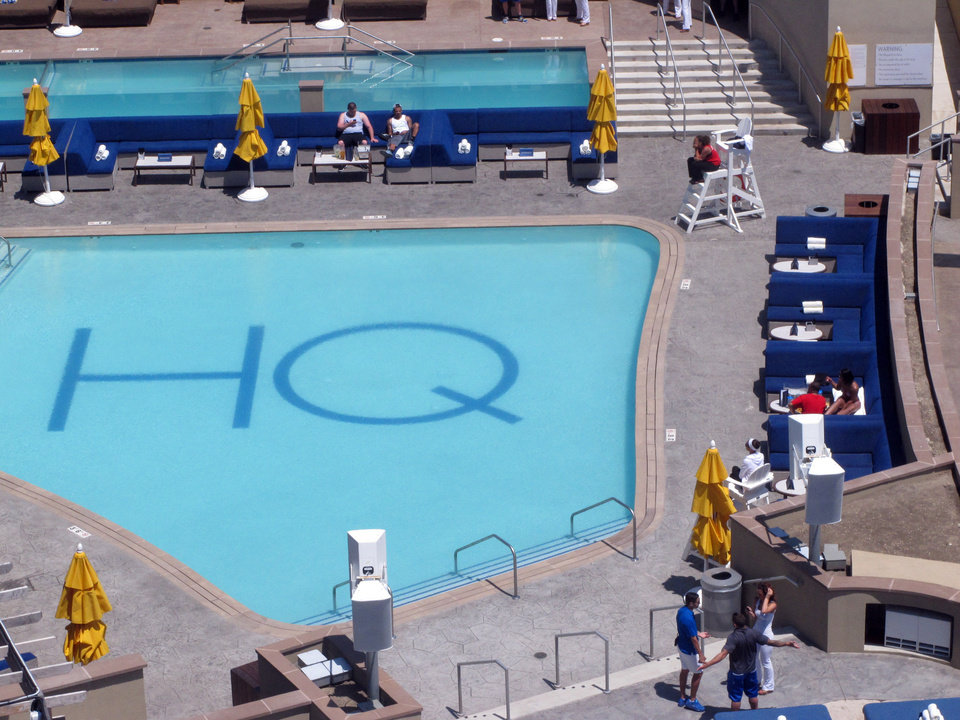 Photo - This May 30, 2014 photo shows the HQ day club that recently opened at Revel Casino Hotel in Atlantic City N.J. The $2.4 billion casino filed for bankruptcy on June 19, 2014, the second time in as many years it sought bankruptcy court protection, and warned that it will shut down this summer if a buyer cannot be found. (AP Photo/Wayne Parry)