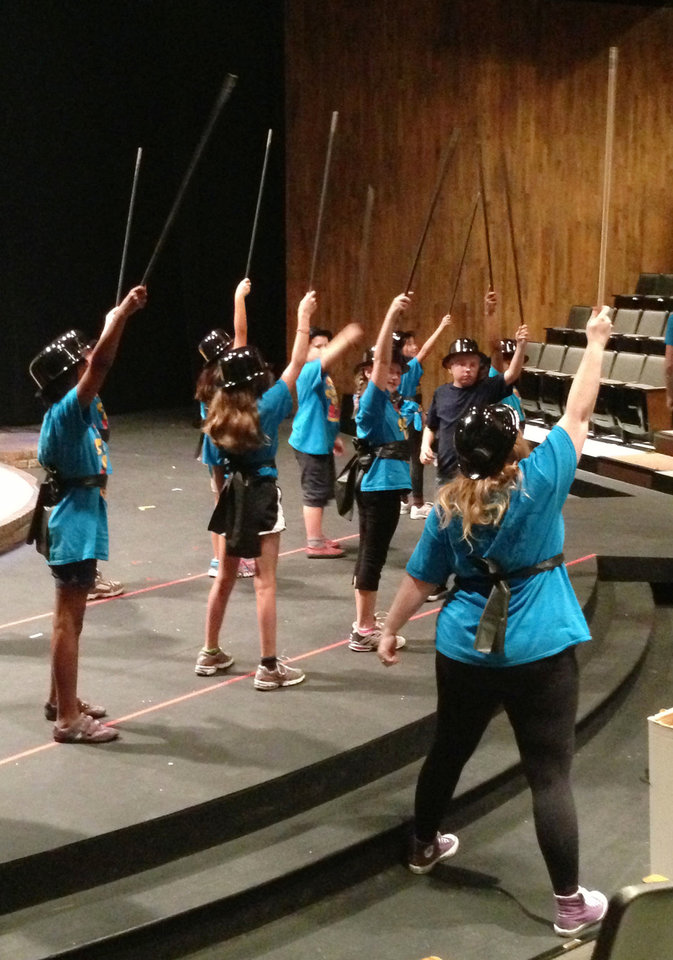 Photo - Campers in the Dance 2 class rehearse for their perfomance at Oklahoma Children's Theatre. PHOTO PROVIDED.