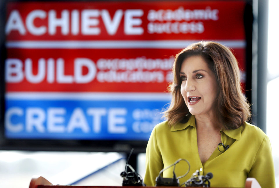 Photo - Oklahoma State Superintendent Joy Hofmeister. Photo by Jim Beckel, The Oklahoman archives