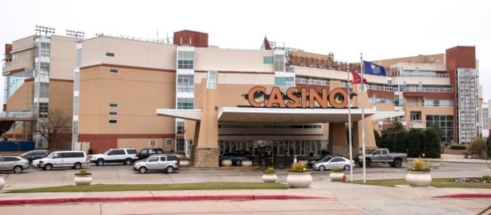 Photo -  The casino and restaraunts inside Remington Park will be closing. [Chris Landsberger/The Oklahoman]