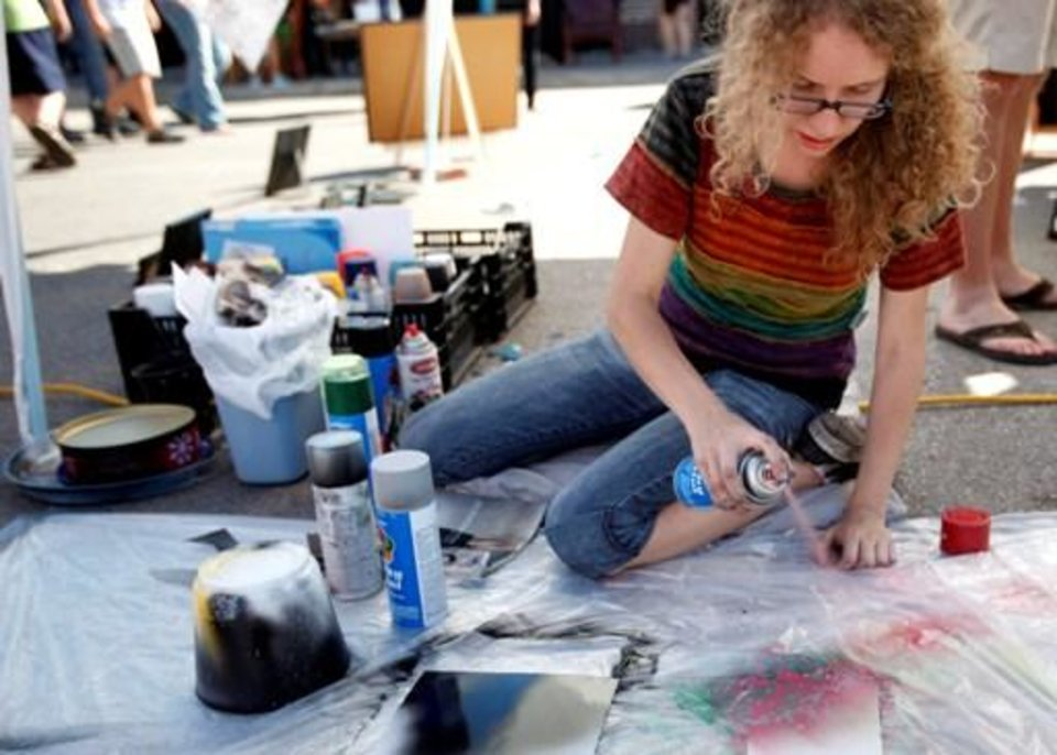 during an art fair in the Plaza district in Oklahoma City,  Saturday, Oct. 1, 2011. Photo by Sarah Phipps, The Oklahoman