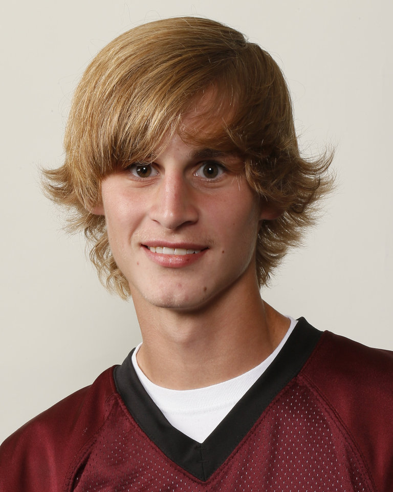 Brock Lamle, Blanchard football player, poses for a mug shot during The Oklahoman's Fall High School Sports Photo Day in Oklahoma City, Wednesday, Aug. 15, 2012. Photo by Nate Billings, The Oklahoman