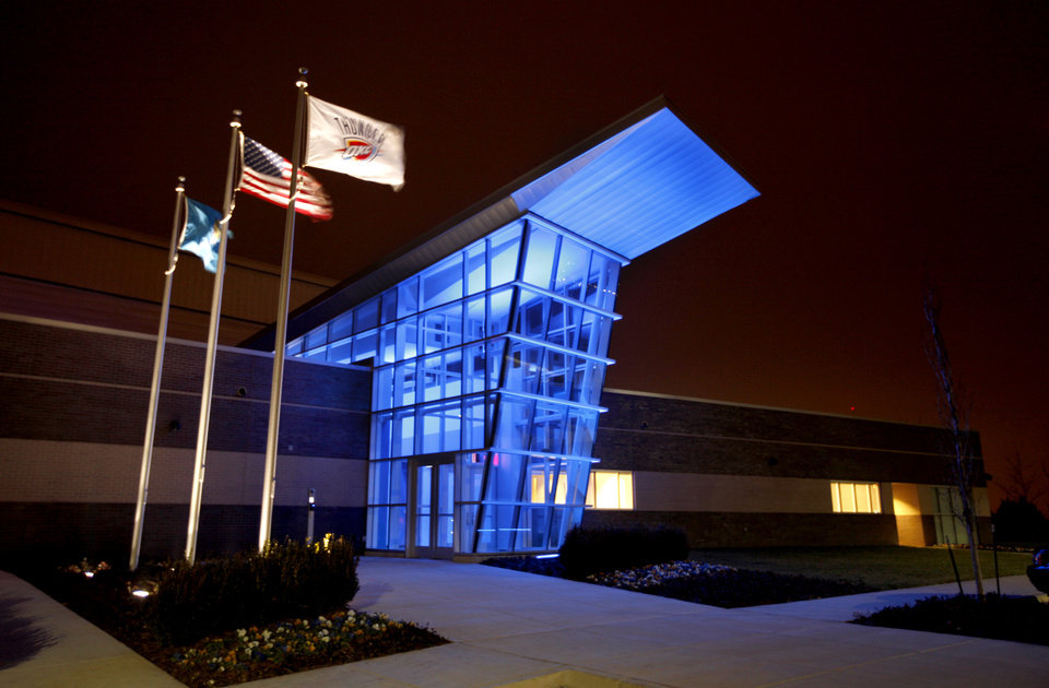 Oklahoma City Thunder's practice  facility is pictured in Oklahoma City, Friday, Dec. 9, 2011. Photo by Sarah Phipps, The Oklahoman