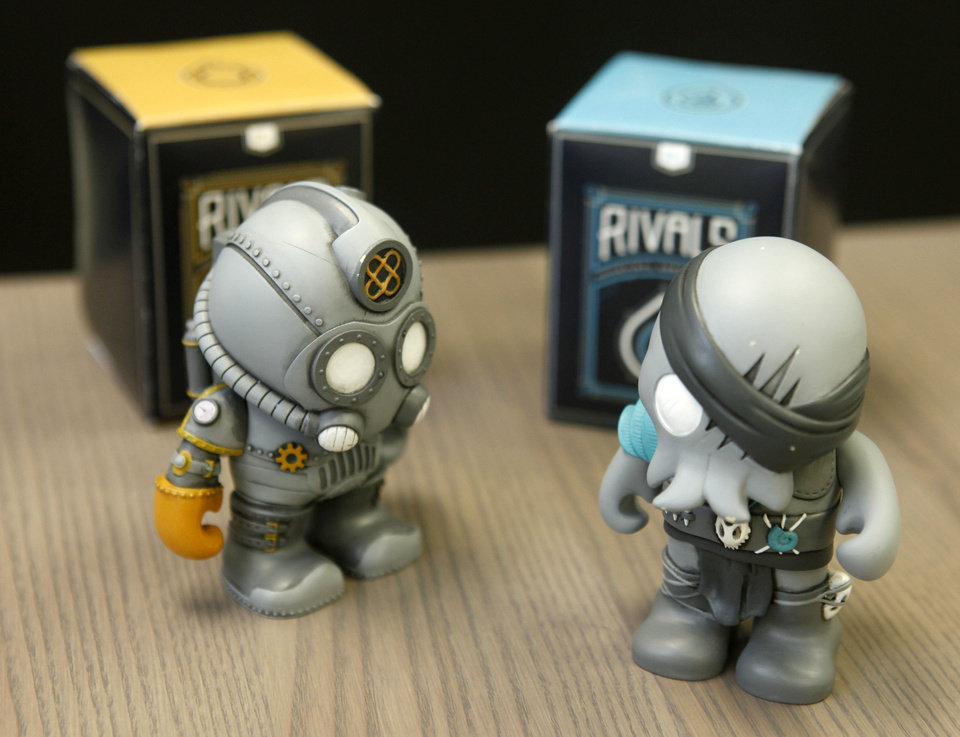 These are a couple of the new line of vinyl toys at Wheelhouse Company in Edmond, OK, Monday, April 1, 2013,  By Paul Hellstern, The Oklahoman