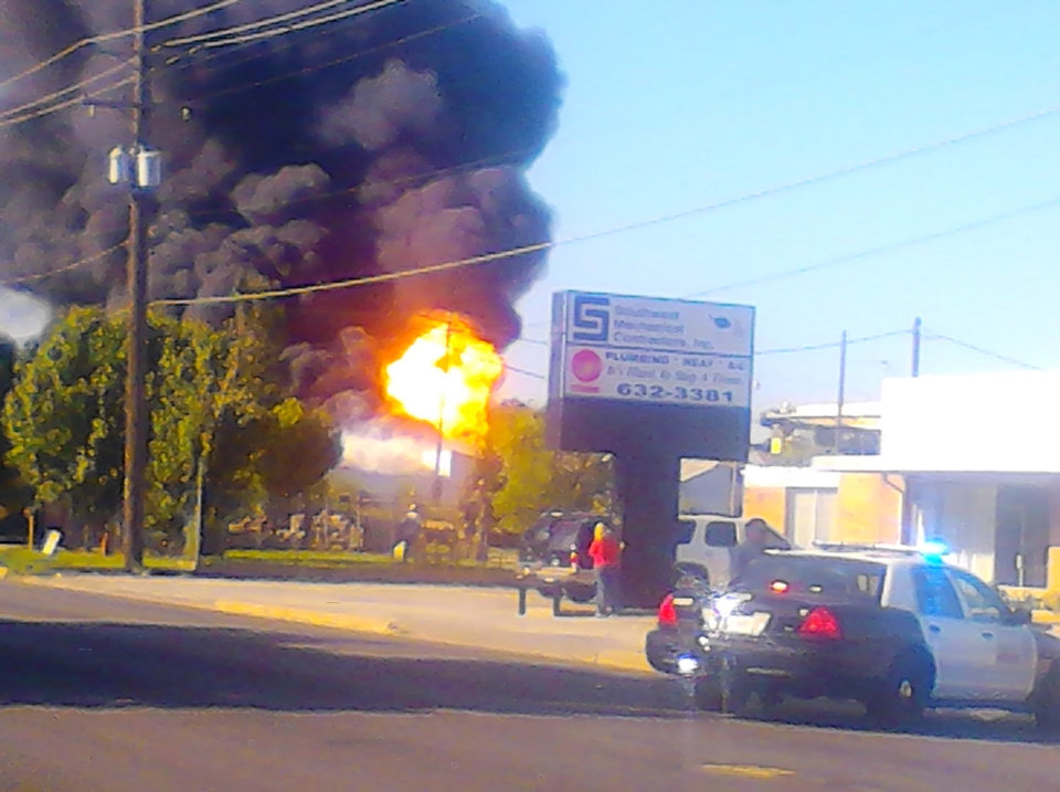 AUGUST 31ST SW OKC FIRE/EXPLOSION AT RECYCLING YARD ON PENN AVE & SW 20TH st.