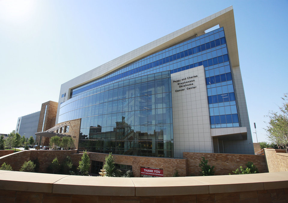 Photo - The University of Oklahoma's Peggy and Charles Stephenson Cancer Center, which opened in 2011, recently received a $1 million grant from the Sarkeys Foundation. PHOTO BY DAVID McDANIEL, THE OKLAHOMAN.  David McDaniel