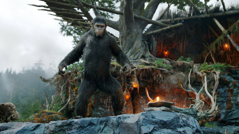 """Photo -  Andy Serkis portrays Caesar in a scene from """"Dawn of the Planet of the Apes."""" AP Photo    -"""