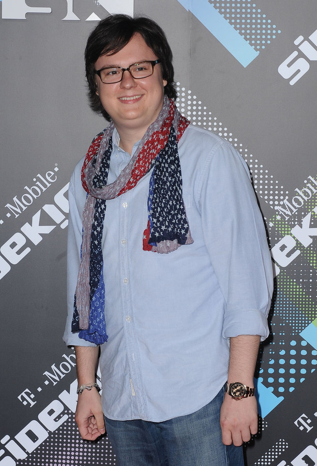 Clark Duke arrives to The T-Mobile Sidekick 4G Launch Party on Sunday April 20, 2011, in Beverly Hills, Calif. (AP Photo/Katy Winn)