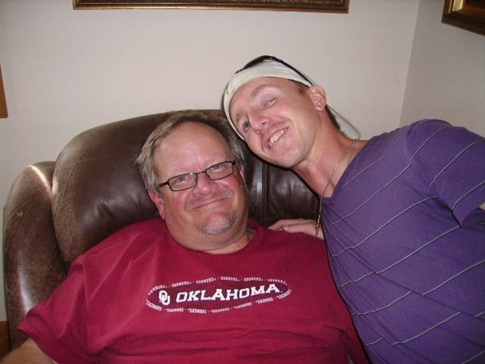Photo -  Todd Black, left, and Cameron Black always have been close, but now they share a bond over OU football. [Photo provided]