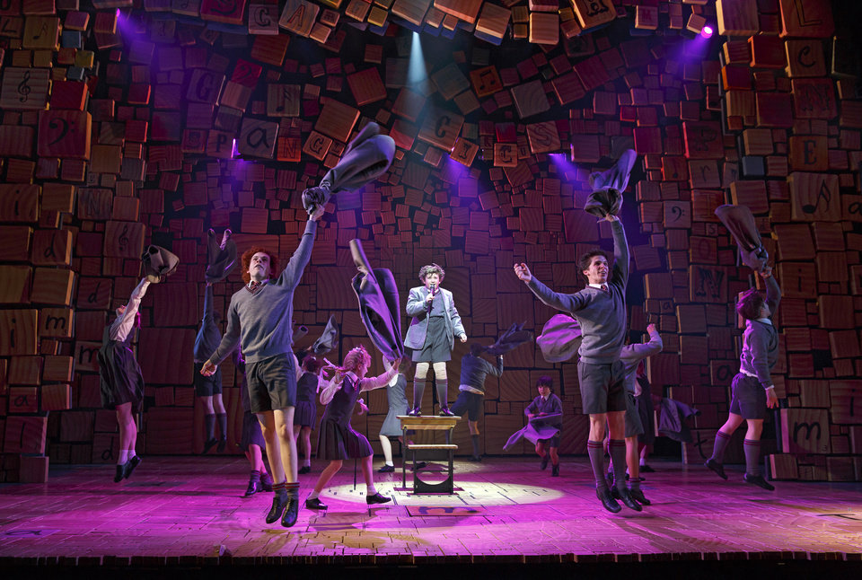 "This theater publicity image released by Boneau/Bryan-Brown shows the cast of ""Matilda The Musical,"" during a performance in New York. The New York Drama Critics' Circle has voted �Vanya and Sonia and Masha and Spike� as best play and �Matilda� as best musical. (AP Photo/Boneau/Bryan-Brown, Joan Marcus)"