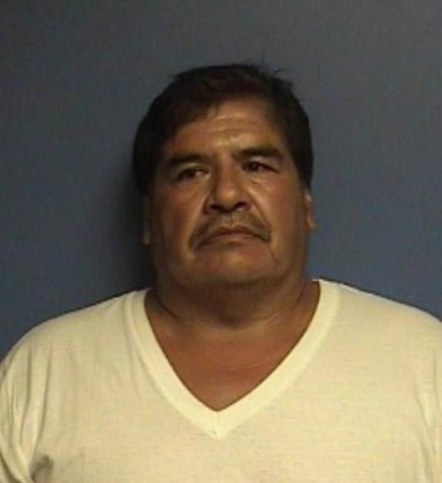 Photo - Estanistao Casas, 42, of Anadarko: An illegal immigrant who has been deported four times. Casas was arrested May 2, accused of buying two pounds of methamphetamine from Ramos, and was free on a $20,000 bail at the time of his arrest Tuesday. He faces five felony counts.