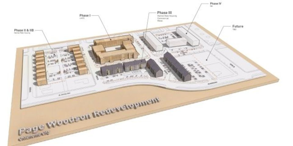 Photo -  Phasing of the Page Woodson development is shown in this graphic. [PROVIDED]