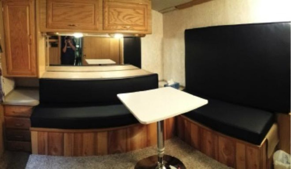 Photo -  A comfortable, safe, and child friendly interview room with minimal distractions in the Mobile Unit Facilty. [Photo provided]