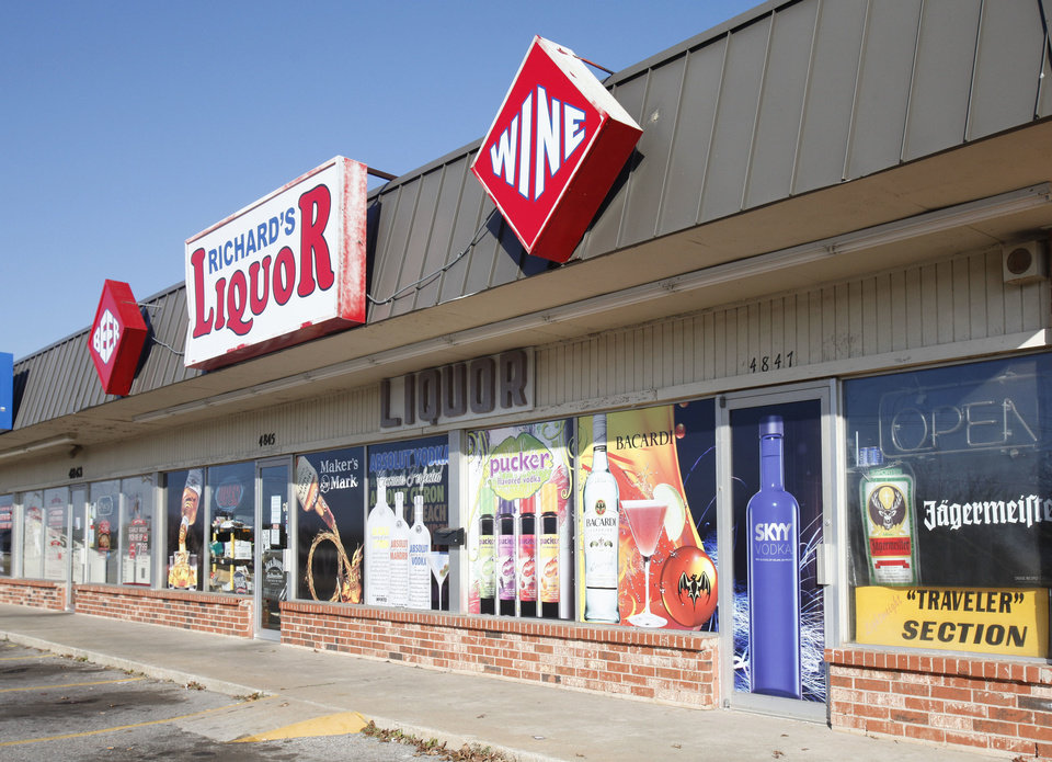 Photo - This is Richard's Liquor Store in Oklahoma City, OK, Tuesday, November 27, 2012. The establishment had larger-than-normal fines imposed on it by the ABEL Commission.  By Paul Hellstern, The Oklahoman
