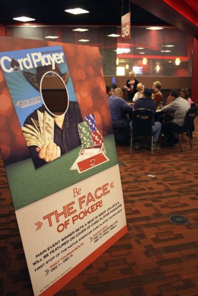 The Choctaw Casino's Native American Casino Poker Tour. Photo by Sean Chaffin. <strong></strong>