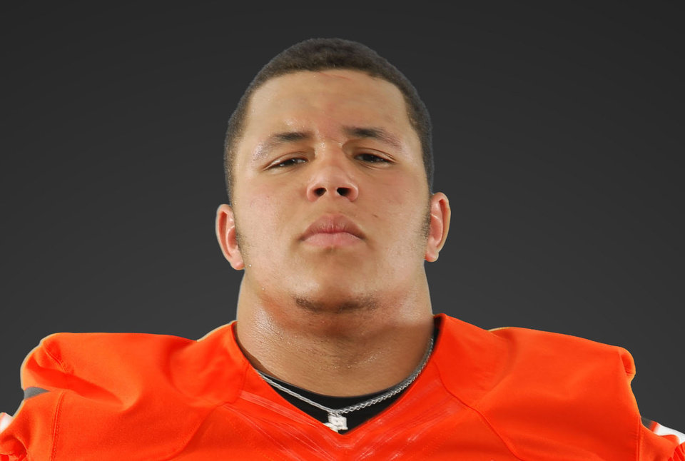 Photo - OSU defensive tackle James Castleman. Photo provided