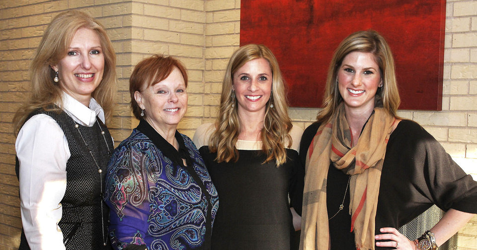 Photo - Jo Lynne Jones, Ginnie Tack, Amy Spielberger, Becky Taylor.  PHOTO BY DAVID FAYTINGER, FOR THE OKLAHOMAN