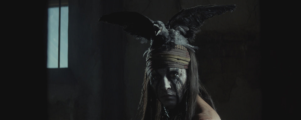 """Photo -  """"THE LONE RANGER""""  Johnny Depp as Tonto  Ph: Peter Mountain  ©Disney Enterprises, Inc. and Jerry Bruckheimer Inc.  All Rights Reserved."""