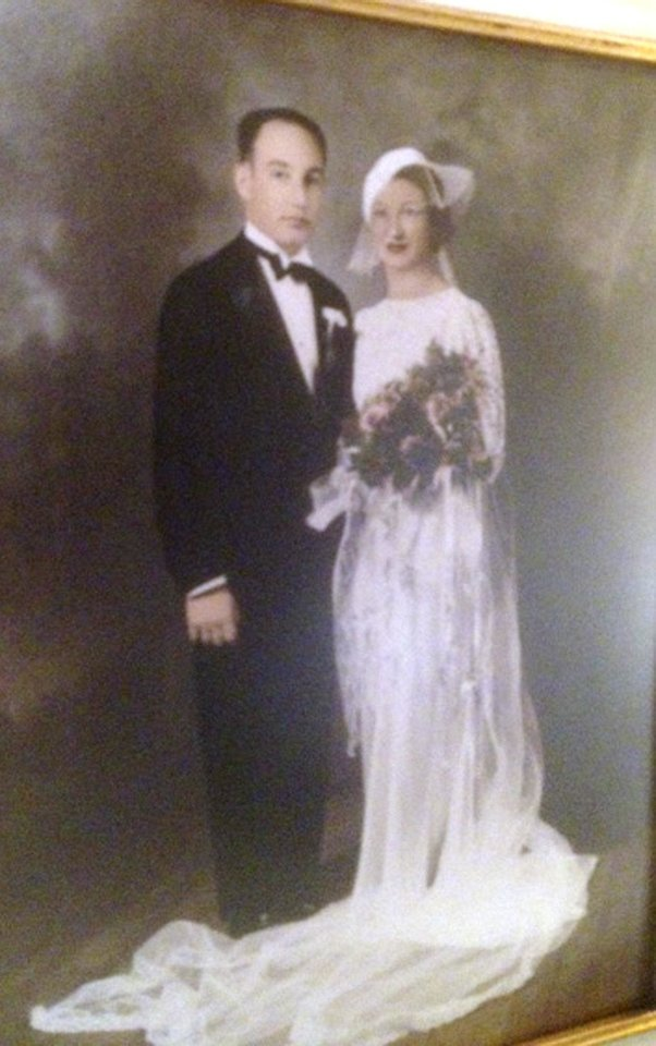 Photo - WEDDING DRESS: Mr. and Mrs. Nim Razooks were married Nov 17,1935. Photo provided by Judith Lehmbeck