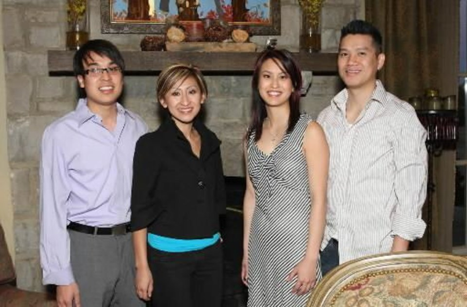 Left: Dereck Duong, Natalie Mai, Trayc Tran, Le Tran. PHOTO BY DAVID FAYTINGER, FOR THE OKLAHOMAN