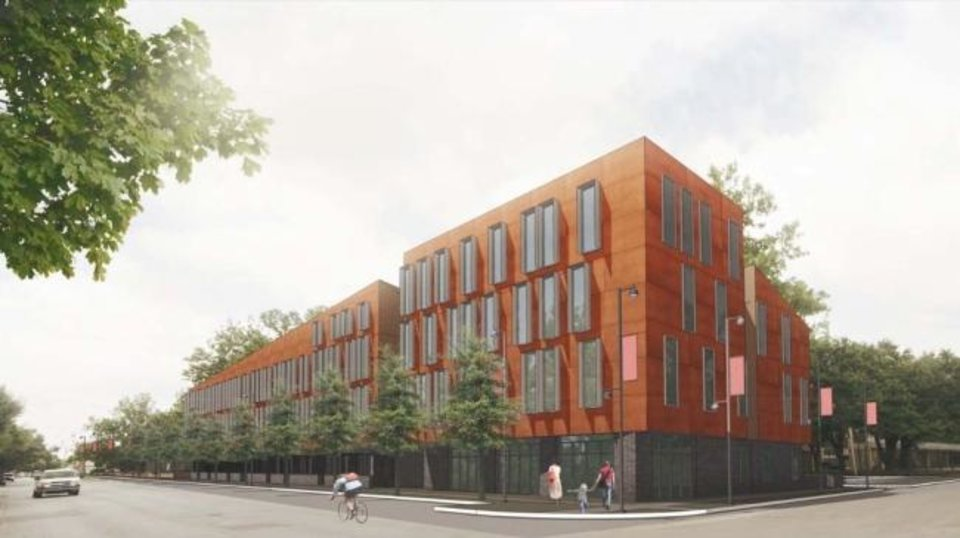 Photo -  Rohan Gupta envisioned building new apartments on the green space that currently separates The Haven apartments from the adjacent Robert S. Kerr Avenue. [PROVIDED]