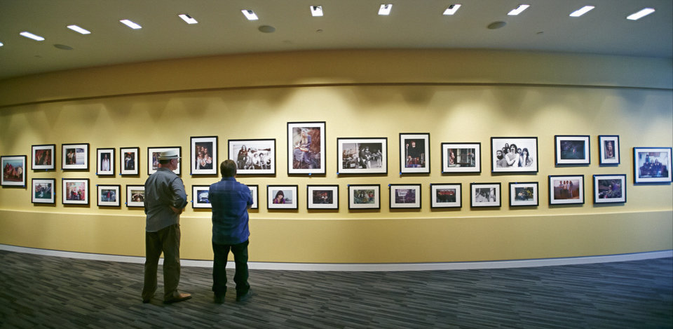 Photo - In this Friday, May 9, 2014 photo, folk musician and photographer Henry Diltz' iconic photographs are featured prominently in the exhibit at the Grammy Museum exhibit