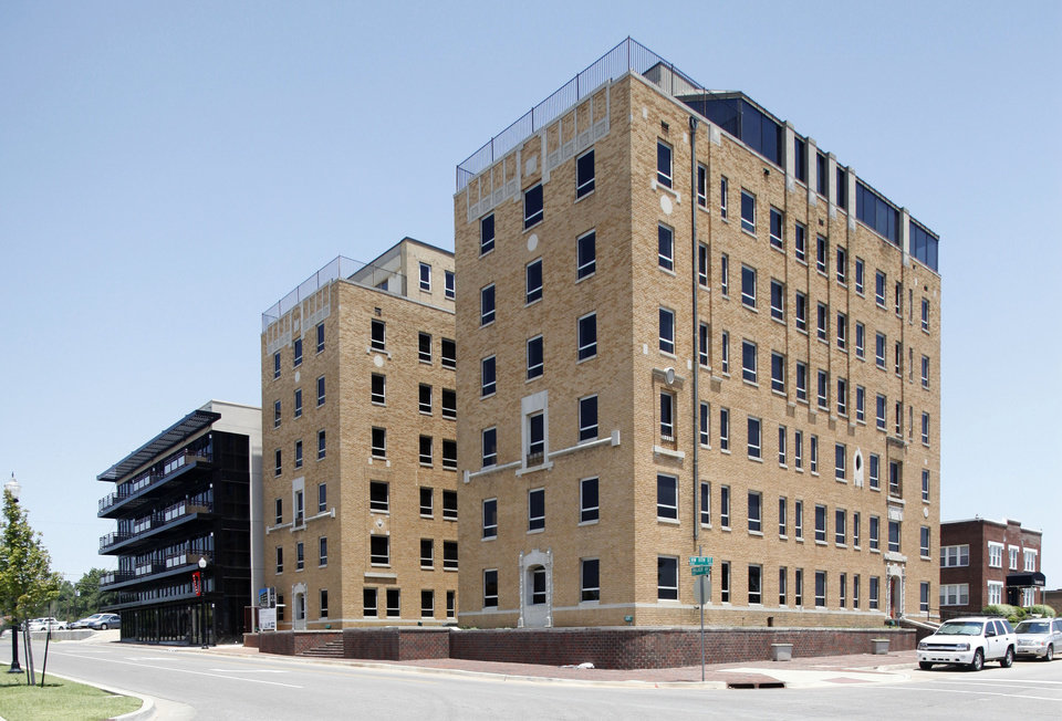 BUILDING EXTERIOR: This is the Osler Building at 1200 N Walker and the renovated apartment building next door at 1212 N Walker in Oklahoma City, OK, Monday, June 25, 2012,  By Paul Hellstern, The Oklahoman