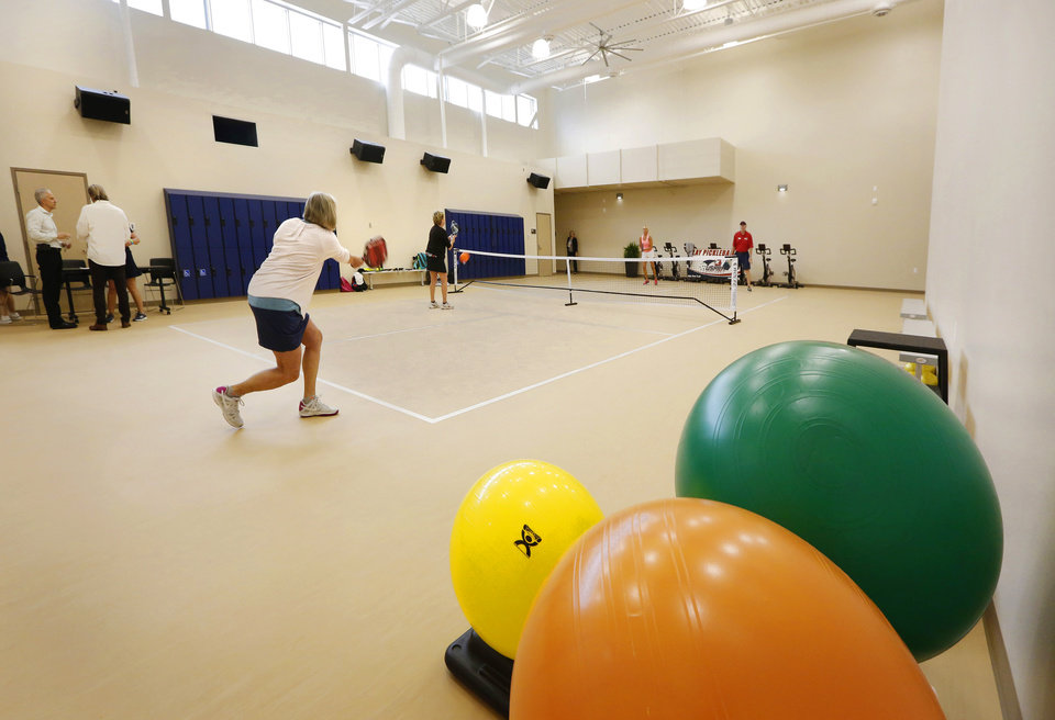 Photo -  The new facility features a pickle ball court. [PHOTO BY JIM BECKEL, THE OKLAHOMAN]