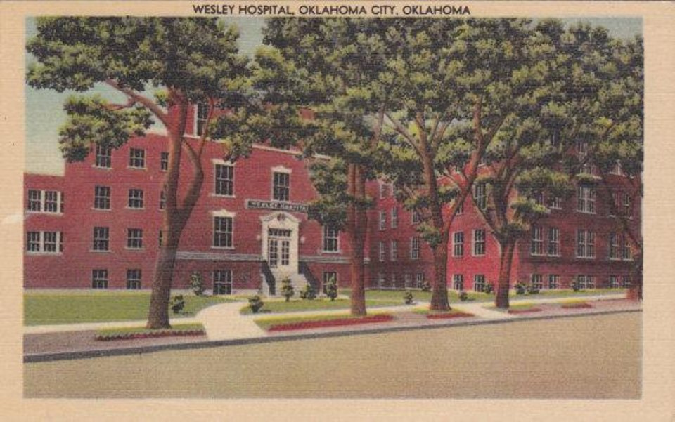 Photo - The former Wesley Hospital is shown in this undated post card.  Provided