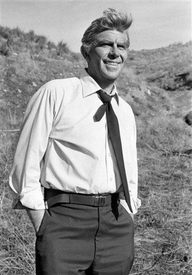 "FILE - This Feb. 23, 1979 file photo shows actor Andy Griffith on the set of TV's ""Salvage-1"" near Los Angeles. Griffith, whose homespun mix of humor and wisdom made ""The Andy Griffith Show"" an enduring TV favorite, died Tuesday, July 3, 2012 in Manteo, N.C. He was 86. (AP Photo, file)"