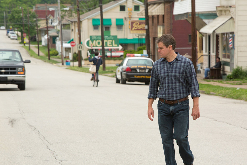 "Matt Damon is shown in a scene from ""Promised Land,"" which he co-wrote for the screen with co-star John Krasinski.  FOCUS FEATURES PHOTO <strong></strong>"