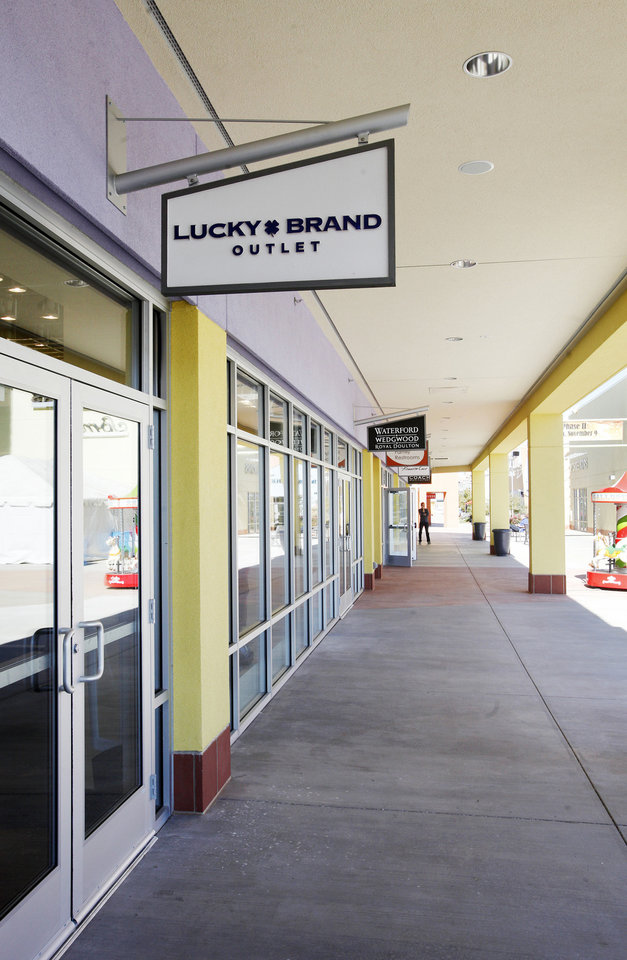 Photo - Lucky Brand Outlet is one of six new retailers opening at The Outlet Shoppes at Oklahoma City. Photo by Paul B. Southerland, The Oklahoman  PAUL B. SOUTHERLAND
