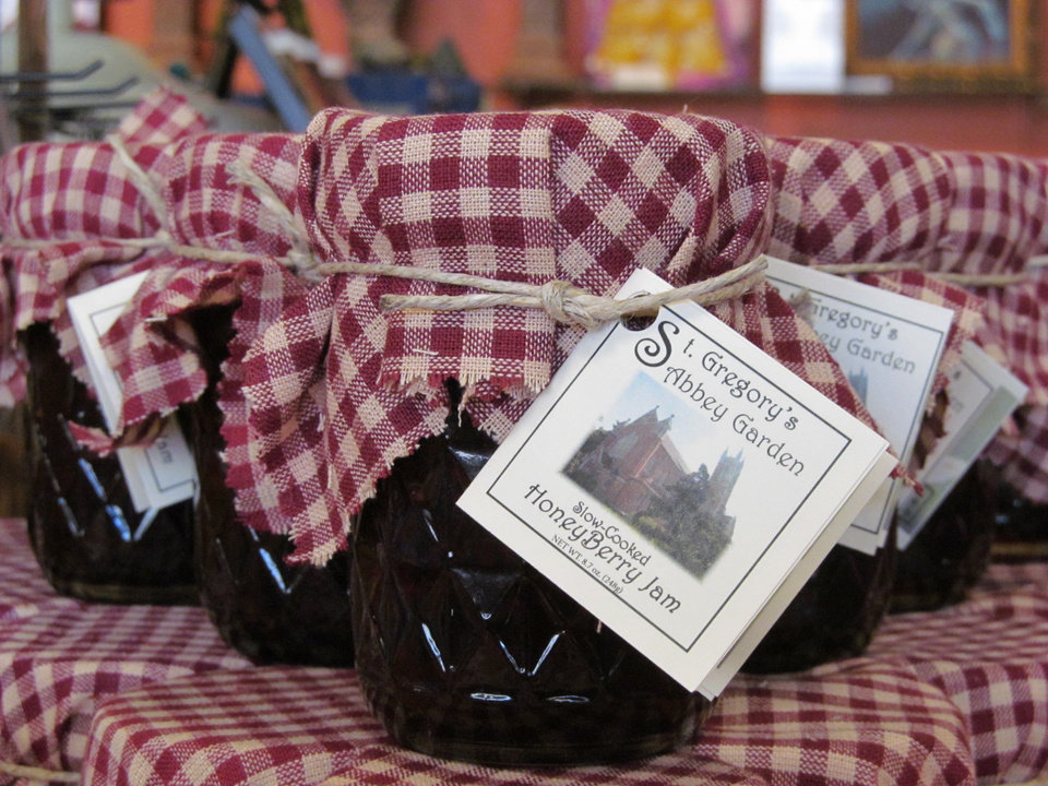 Photo -  Honey Berry Jam made from honey and blackberries harvested at St. Gregory's Abbey is for sale at the abbey and the adjacent Mabee-Gerrer Museum on the campus of St. Gregory's University in Shawnee. Photo provided