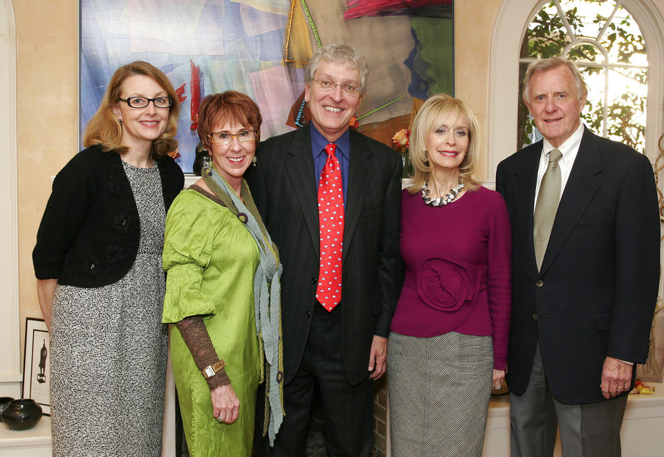 Leslie Hudson, Annie Bohanon, Robert Henry, Gene Barth and Judge Ralph Thompson. - PHOTO BY BAVID FAYTINGER, FOR THE OKLAHOMAN