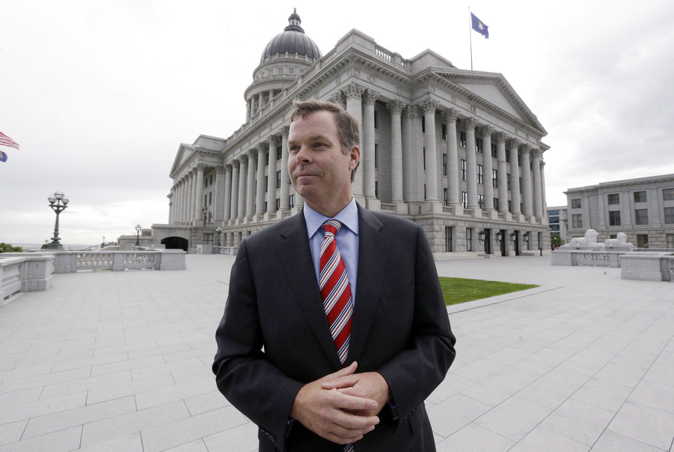 Photo - FILE - In this Sept. 12, 2013 file photo, Utah Attorney General John Swallow looks on during an interview at the Utah State Capitol in Salt Lake City. The cost of the ongoing Utah House investigation of the state's attorney general is nearing $1.5 million. The Salt Lake Tribune reports Republican Rep. Jim Dunnigan said Wednesday, Nov. 20, 2013 that investigators have talked with 140 witnesses and issued 15 subpoenas during the first three months of the inquiry into a series of allegations against John Swallow. He's accused of attempted bribery and accepting gifts and favors among other accusations. Swallow denies any wrongdoing. (AP Photo/Rick Bowmer, File)