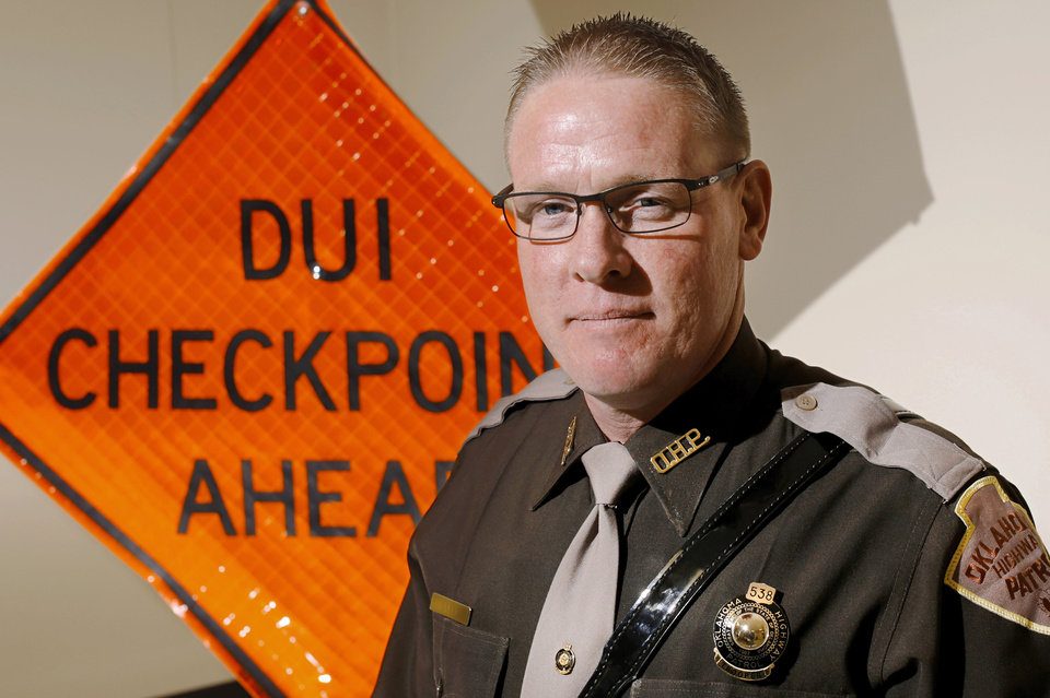 Photo -  Trooper Chris Liles is an expert in drug recognition with the Oklahoma Highway Patrol. [Photo by Jim Beckel, The Oklahoman]