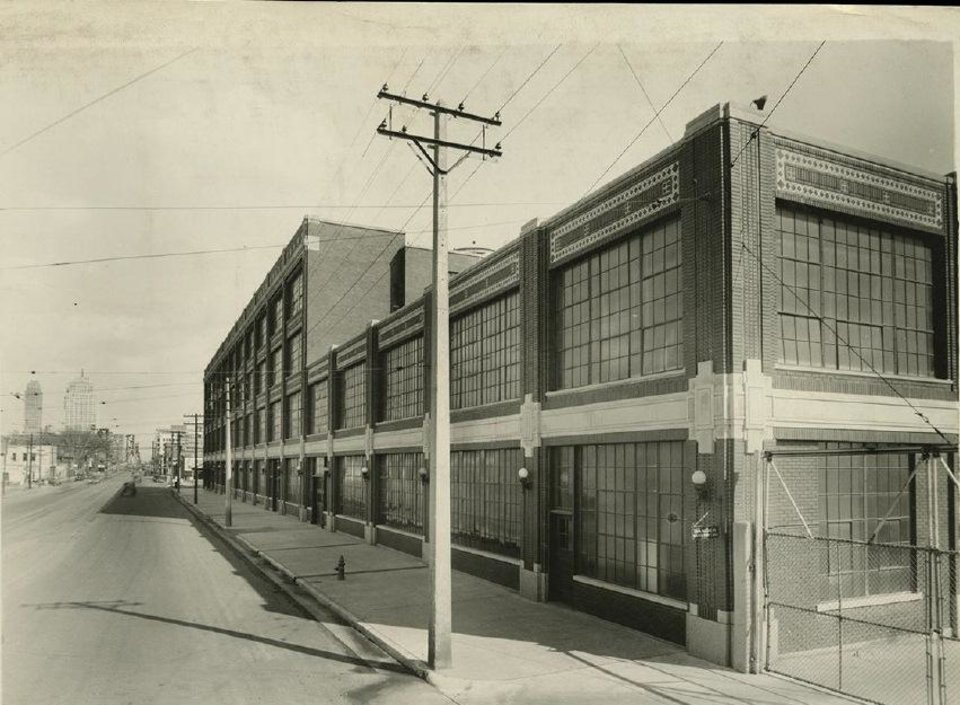 Photo -  The north elevation of the Fred Jones assembly plant, looking southeast at the north facade, is shown in this 1939 photograph. Courtesy Collections of Henry Ford    Courtesy Collections of Henry Ford