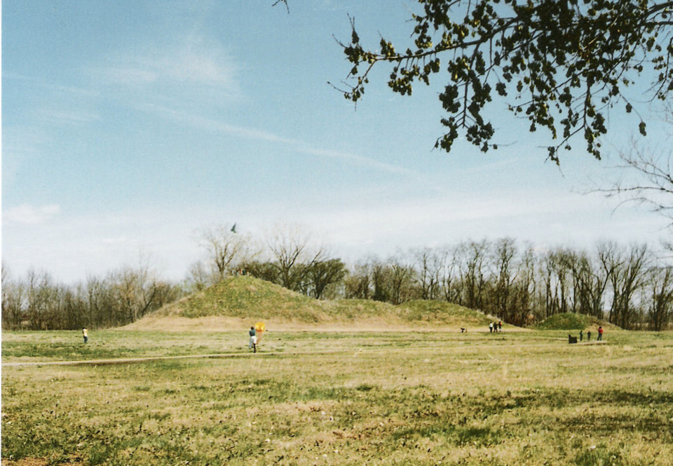 Photo - Craig Mound, a burial mound, is one of the key spots at the Spiro Mounds Archaelogical Center. PHOTO PROVIDED.  Provided