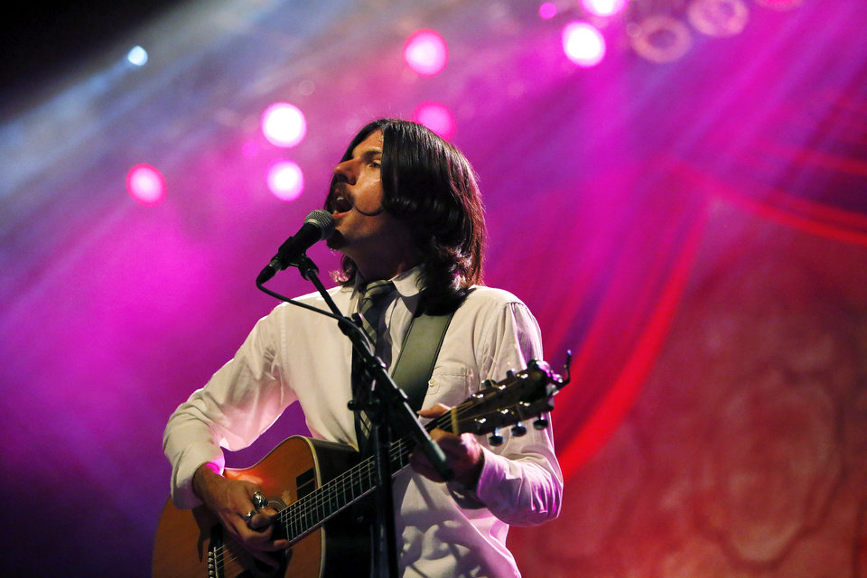 Seth Avett performs during a concert by the Avett Brothers at Chesapeake Energy Arena in Oklahoma City, Friday, July 27, 2012. Photo by Nate Billings, The Oklahoman