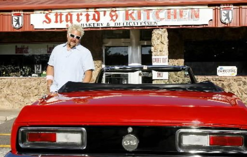 Guy Fieri from the Food Network's Diners, Drive-Ins and Dives at  Ingrid's  Kitchen in Oklahoma City Tuesday, May 19, 2009. Photo by Paul B. Southerland, The Oklahoman